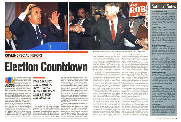 Article Preview: Election Countdown, November 1988 | Maclean's