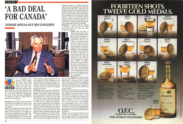 Article Preview: 'A BAD DEAL FOR CANADA', November 1988 | Maclean's