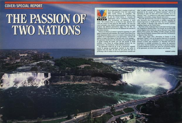 Article Preview: The Passion of Two Nations, November 1988 | Maclean's