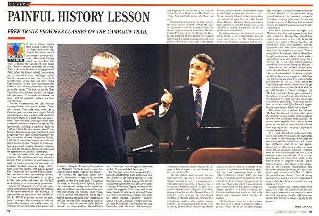Article Preview: PAINFUL HISTORY LESSON, November 1988 | Maclean's