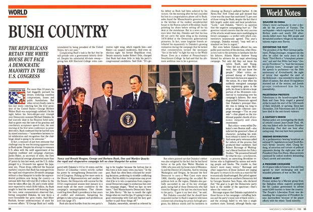 Article Preview: BUSH COUNTRY, November 1988 | Maclean's
