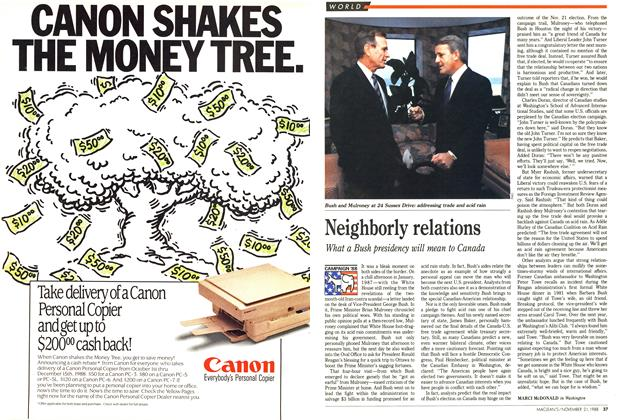 Article Preview: Neighborly relations, November 1988 | Maclean's
