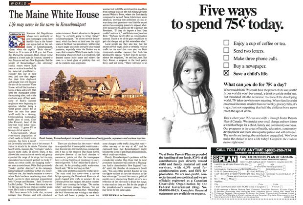Article Preview: The Maine White House, November 1988 | Maclean's