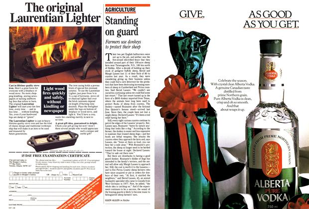 Article Preview: Standing on guard, November 1988 | Maclean's