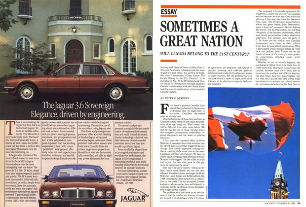 Article Preview: SOMETIMES A GREAT NATION, November 1988 | Maclean's