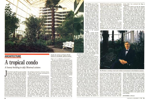 Article Preview: A tropical condo, November 1988 | Maclean's