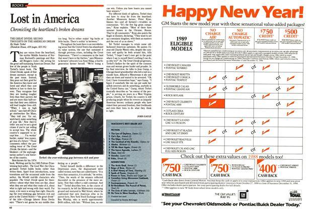 Article Preview: MACLEAN'S BEST-SELLER LIST, November 1988 | Maclean's