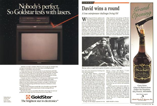 Article Preview: David wins a round, November 1988 | Maclean's