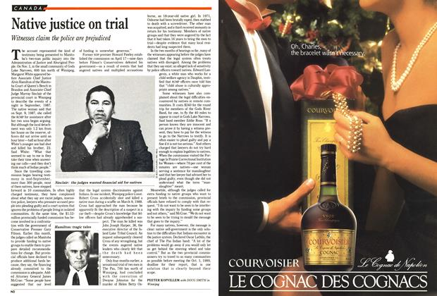 Article Preview: Native justice on trial, November 1988 | Maclean's