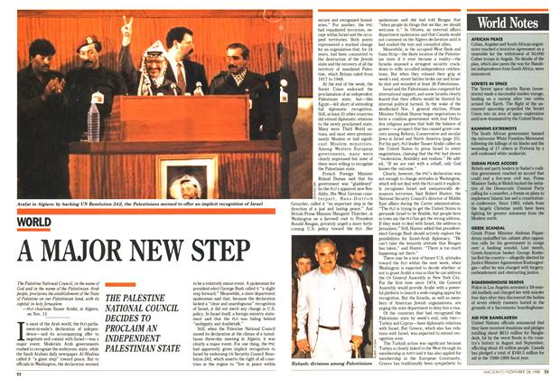 Article Preview: A MAJOR NEW STEP, November 1988 | Maclean's