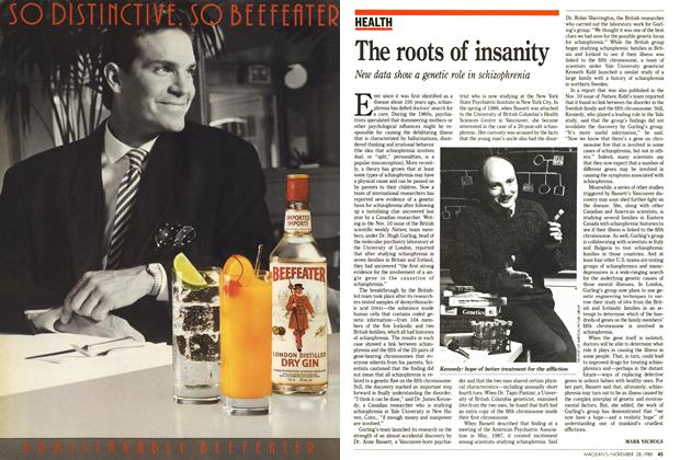 Article Preview: The roots of insanity, November 1988 | Maclean's