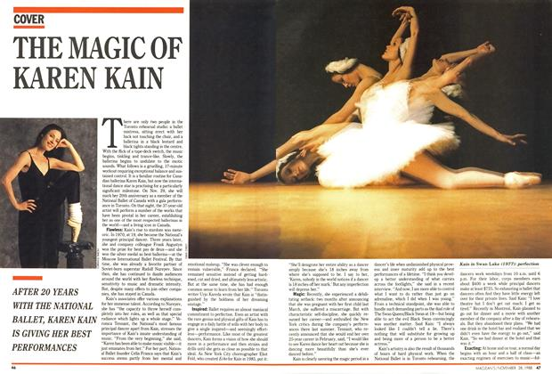 Article Preview: THE MAGIC OF KAREN KAIN, November 1988 | Maclean's