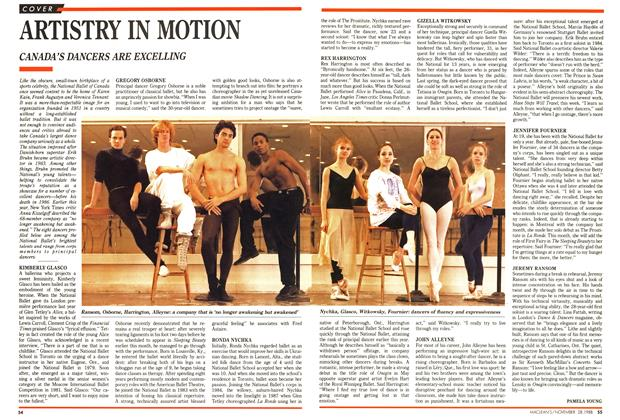 Article Preview: ARTISTRY IN MOTION, November 1988 | Maclean's