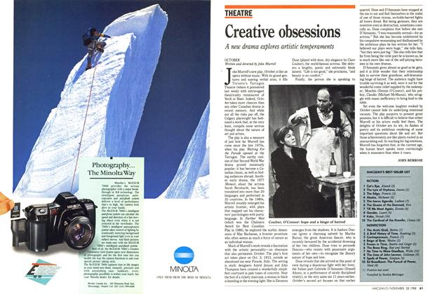Article Preview: Creative obsessions, November 1988 | Maclean's
