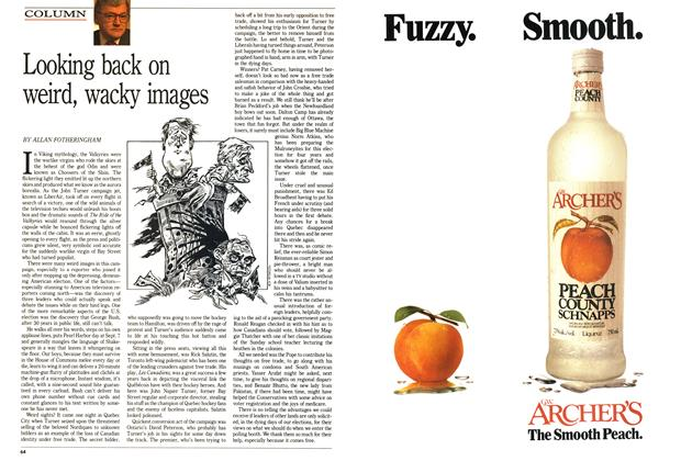 Article Preview: Looking back on weird, wacky images, November 1988 | Maclean's