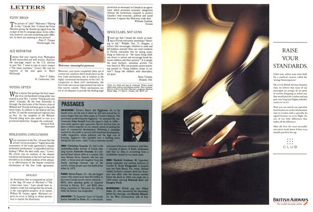 Article Preview: LETTERS, November 1988 | Maclean's