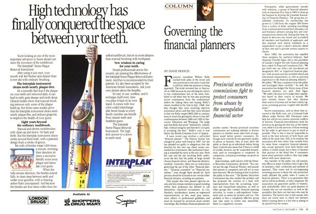 Article Preview: Governing the financial planners, December 1988 | Maclean's