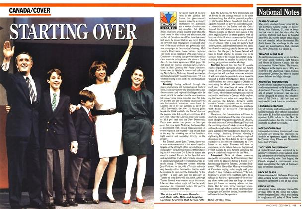 Article Preview: STARTING OVER, December 1988 | Maclean's
