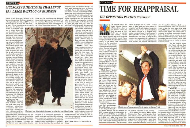 Article Preview: TIME FOR REAPPRAISAL, December 1988 | Maclean's