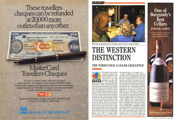 Article Preview: THE WESTERN DISTINCTION, December 1988 | Maclean's