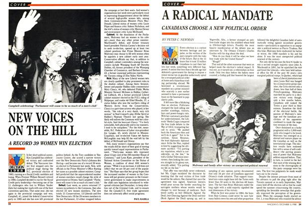 Article Preview: A RADICAL MANDATE, December 1988 | Maclean's