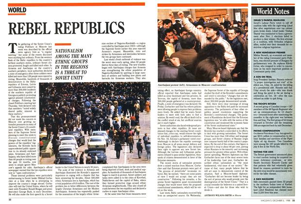 Article Preview: REBEL REPUBLICS, December 1988 | Maclean's