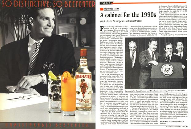 Article Preview: A cabinet for the 1990s, December 1988 | Maclean's