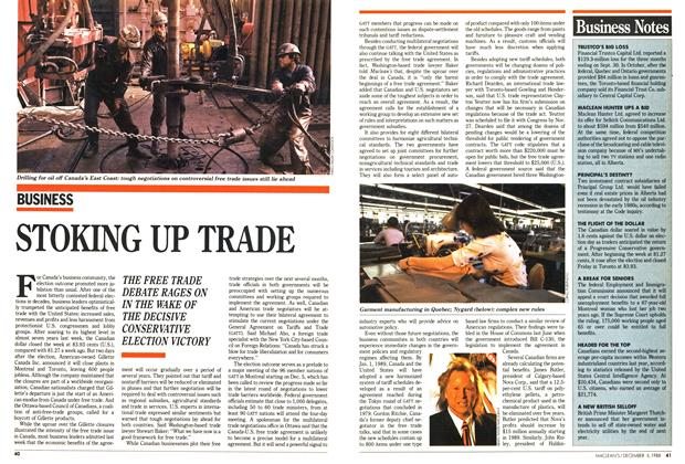 Article Preview: STOKING UP TRADE, December 1988 | Maclean's