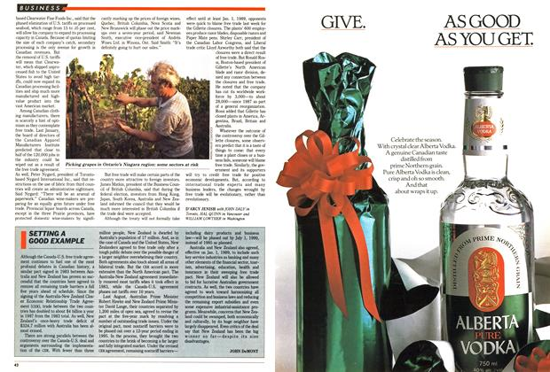 Article Preview: SETTING A GOOD EXAMPLE, December 1988 | Maclean's