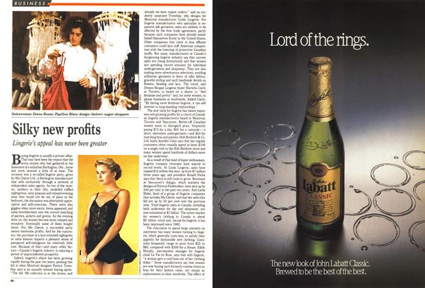 Article Preview: Silky new profits, December 1988 | Maclean's