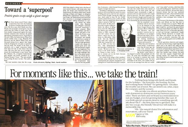 Article Preview: Toward a 'superpool', December 1988 | Maclean's