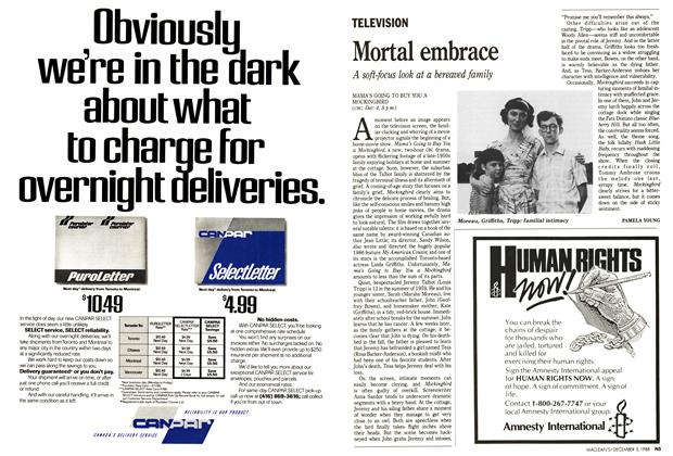 Article Preview: Mortal embrace, December 1988 | Maclean's