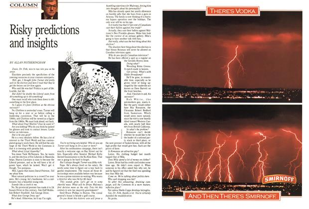 Article Preview: Risky predictions and insights, December 1988 | Maclean's