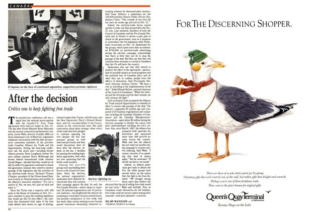 Article Preview: After the decision, December 1988 | Maclean's