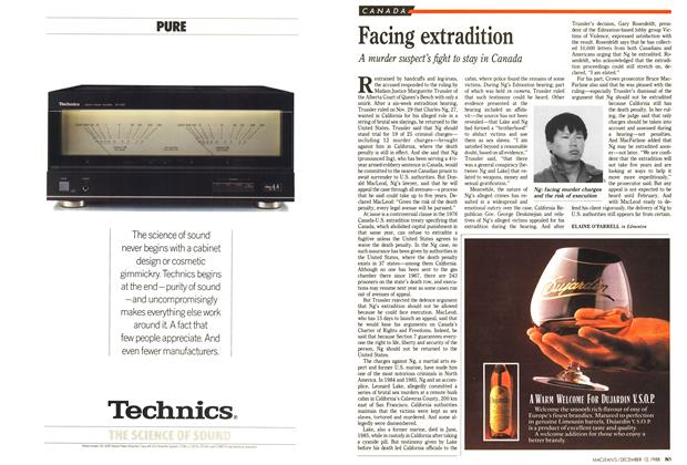 Article Preview: Facing extradition, December 1988 | Maclean's