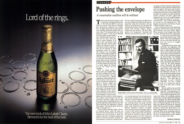 Article Preview: Pushing the envelope, December 1988 | Maclean's