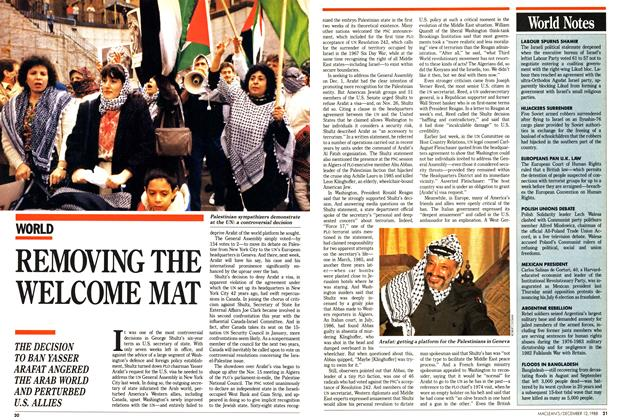 Article Preview: REMOVING THE WELCOME MAT, December 1988 | Maclean's