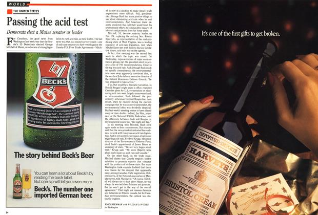 Article Preview: Passing the acid test, December 1988 | Maclean's