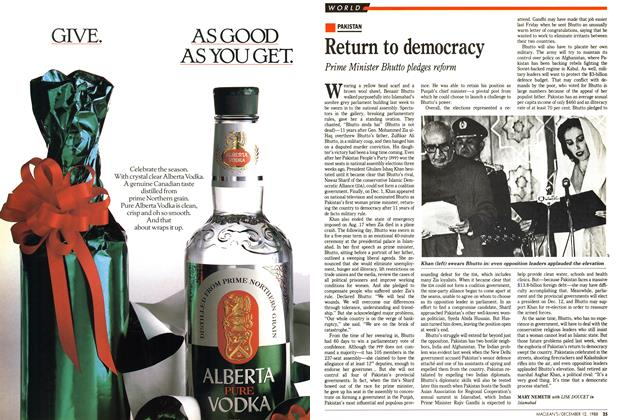 Article Preview: Return to democracy, December 1988 | Maclean's