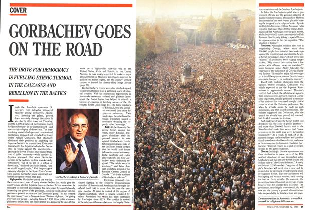 Article Preview: GORBACHEV GOES ON THE ROAD, December 1988 | Maclean's