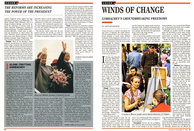 Article Preview: GLOBE-TROTTING GORBACHEV, December 1988 | Maclean's