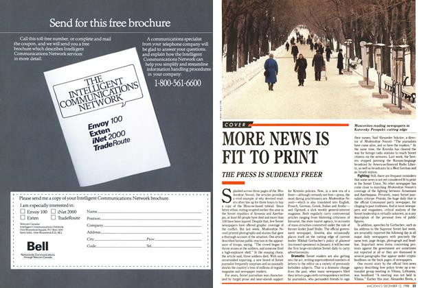 Article Preview: MORE NEWS IS FIT TO PRINT, December 1988 | Maclean's