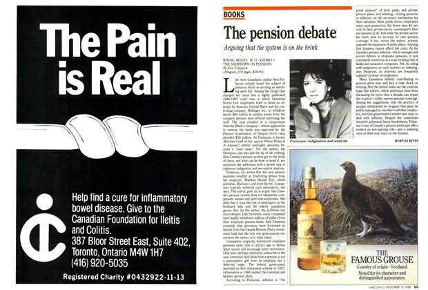 Article Preview: The pension debate, December 1988 | Maclean's