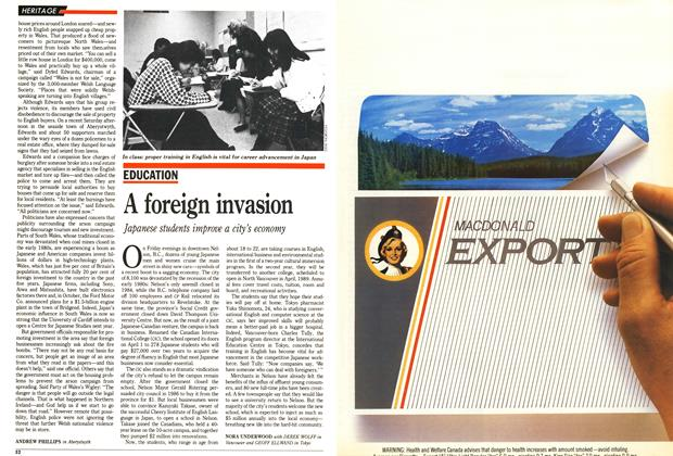 Article Preview: A foreign invasion, December 1988 | Maclean's