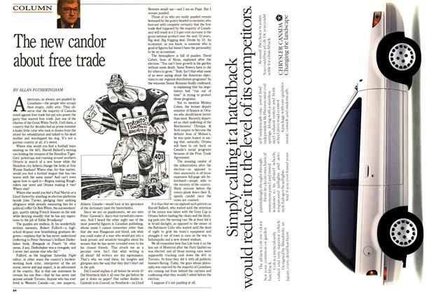 Article Preview: The new candor about free trade, December 1988 | Maclean's