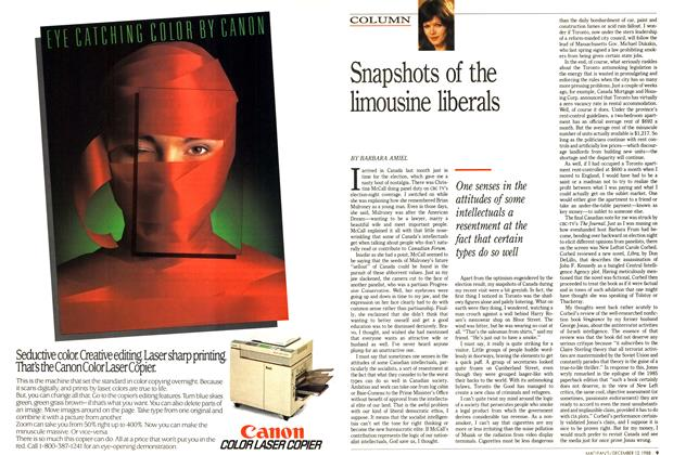 Article Preview: Snapshots of the limousine liberals, December 1988 | Maclean's