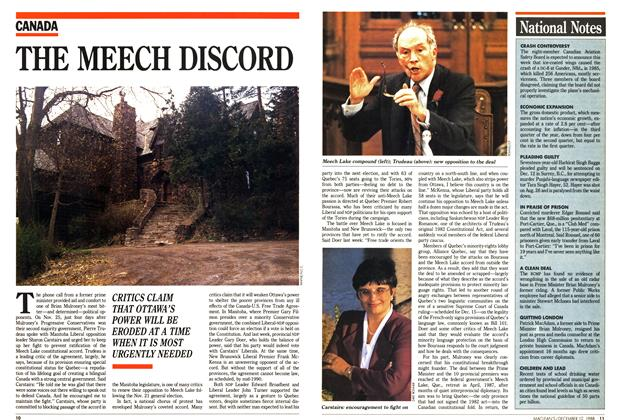 Article Preview: THE MEECH DISCORD, December 1988 | Maclean's