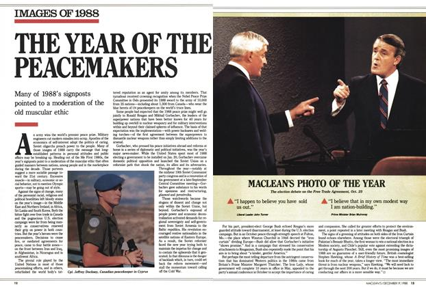 Article Preview: THE YEAR OF THE PEACEMAKERS, December 1988 | Maclean's