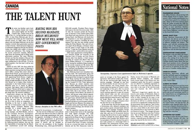 Article Preview: THE TALENT HUNT, December 1988 | Maclean's