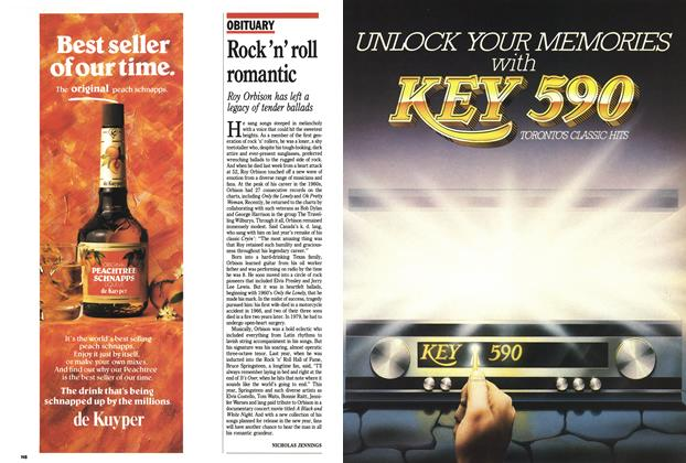 Article Preview: Rock 'n' roll romantic, December 1988 | Maclean's